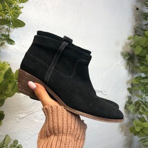 Joie Ajax Boots Black Suede 37